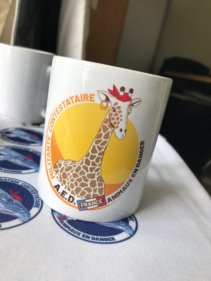 sublimation Mugs pour la protection des animaux